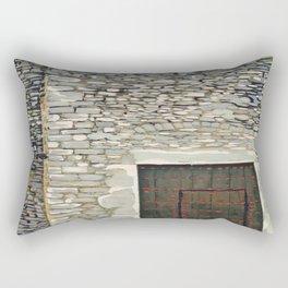 Heavy Wood Door Rectangular Pillow