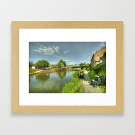 Hungerford Wharf Fishing Framed Art Print