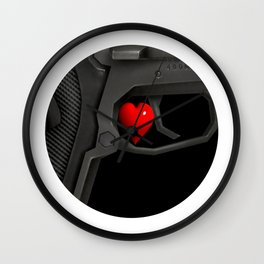 Wait! Guns, firearms power Wall Clock