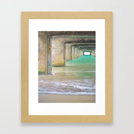 Hanalei Bay Pier Fine Art photography Framed Art Print
