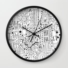 Frenetic City Wall Clock