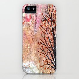 Blood Moon Skies over Snowy Dewdrop Holler iPhone Case