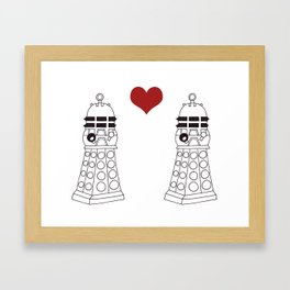 Daleks need love too Framed Art Print