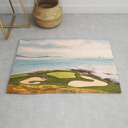 Pebble Beach Golf Course Signature Hole 7 Rug