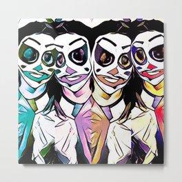 Funny Clown Metal Print
