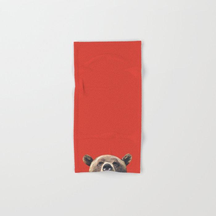 Bear - Red Hand & Bath Towel