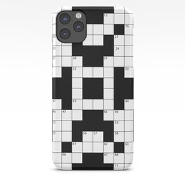 Cool Crossword Pattern iPhone Case