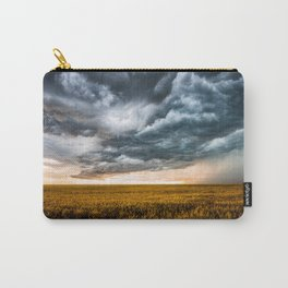 Rolling Thunder - Dramatic Storm Clouds Churn Over Golden Wheat Field in Colorado Carry-All Pouch