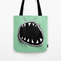 monster Tote Bags featuring monster by Кaterina Кalinich
