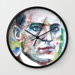 LEV VYGOTSKY watercolor portrait Wall Clock