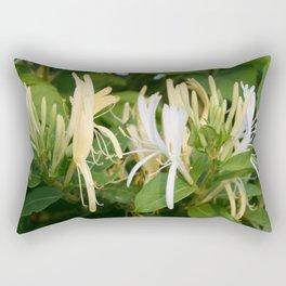 Closeup shot of Lonicera European Honeysuckle Flower Rectangular Pillow