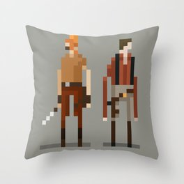 Brains and Brawn Throw Pillow