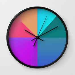 Gradient background Wall Clock