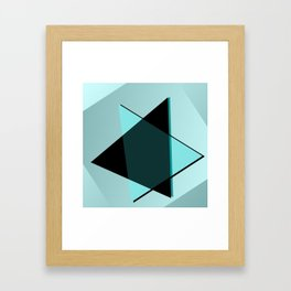 Oh blacky blue ... Framed Art Print
