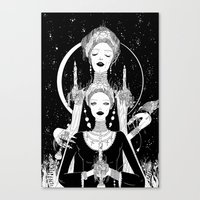 religion Canvas Prints featuring Religion by Birdie Houdini