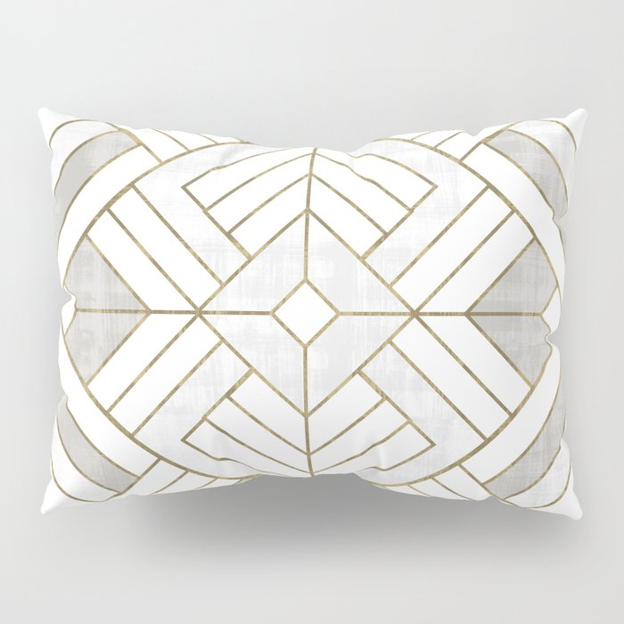 Lennox Vintage Deco - White & Gold Pillow Sham
