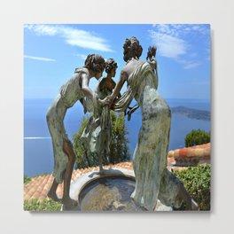 Three Angels in Eze Village Metal Print