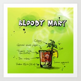 BloodyMary_002_by_JAMFoto Art Print