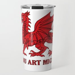 Thou Art Mighty Red Dragon Welsh Rugby Travel Mug