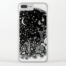 Moonlit Garden Clear iPhone Case