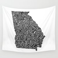 georgia Wall Tapestries featuring Typographic Georgia by CAPow!