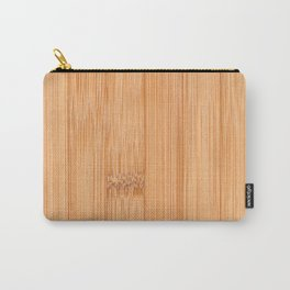 Cool elegant light brown bamboo wood print Carry-All Pouch