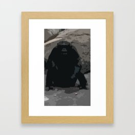 Ape Shit Crazy Framed Art Print