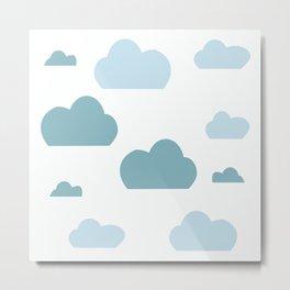Cloud blue Metal Print