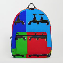 Industrial inspiration for a colorful tap design Backpack