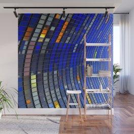 Big Blue Blocks Wall Mural