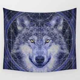 Wolf Geometry Wall Tapestry