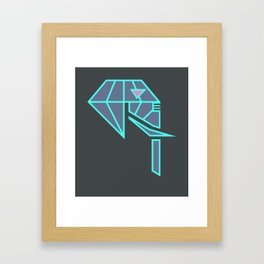Diamond Elephant Framed Art Print
