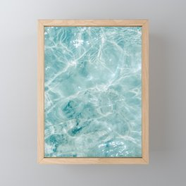 Clear blue water | Colorful ocean photography print | Turquoise sea Framed Mini Art Print