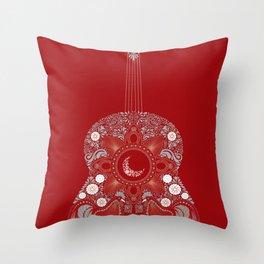 Roja es mi pasion Throw Pillow