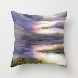 Intense Sky Throw Pillow