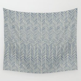 Freeform Arrows in navy Wall Tapestry