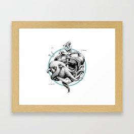 Ad infinitum - aqua Framed Art Print