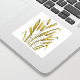Golden wheat painting Sticker