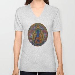 The Medicine Buddha Unisex V-Neck