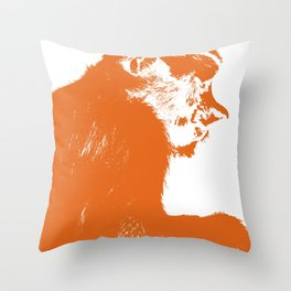 Juvenile proboscis monkey [Umber] Throw Pillow