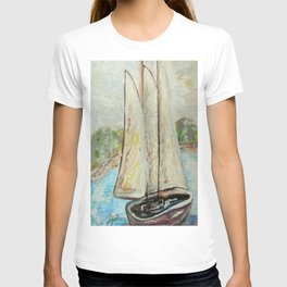 On a Cloudy Day - Impressionistic Art T-shirt