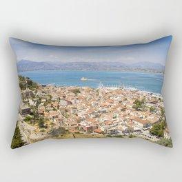 Nafplio from above Rectangular Pillow