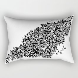 Butterflies in the Flowers Rectangular Pillow