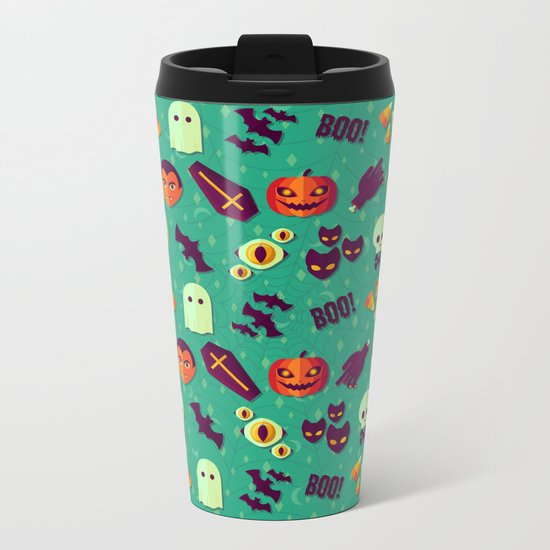 SPOOKY Metal Travel Mug