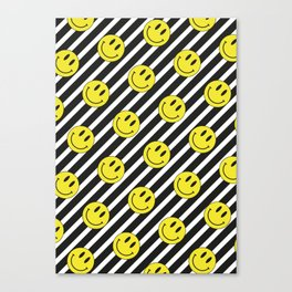 Smiley and Stripes Canvas Print