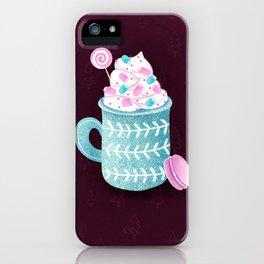 Christmas hot chocolate iPhone Case