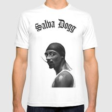 Salva Dogg MEDIUM White Mens Fitted Tee