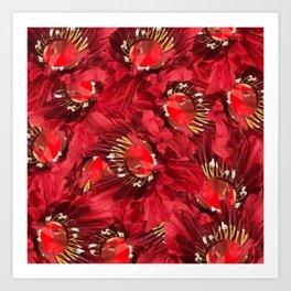 Burgundy Venetian Red Art Print