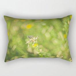 Little butterfly in flowery meadow Rectangular Pillow