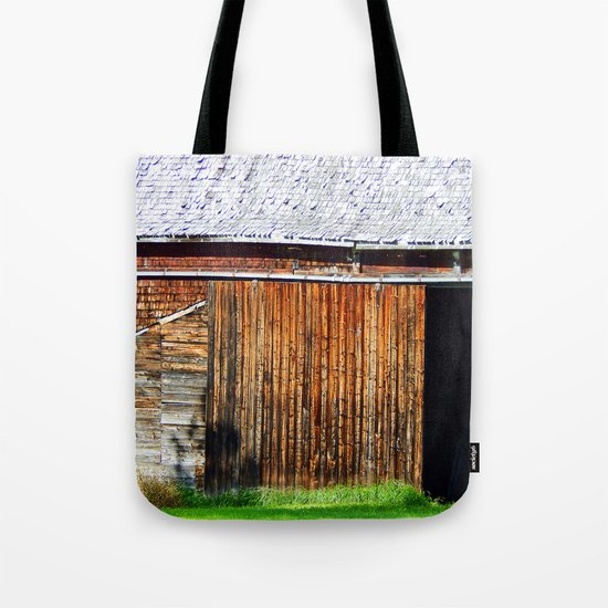 Open Barn Door Tote Bag